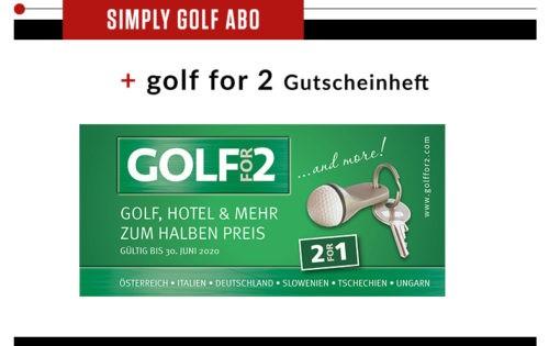 Simply Golf + Golf for 2 Vorteilsbuch
