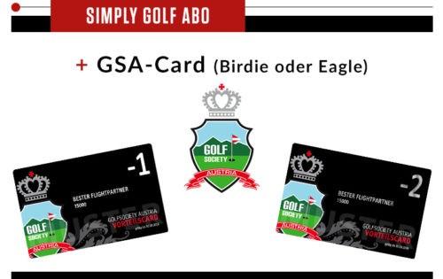 Simply Golf + Golfsociety Austria Vorteilscard – GSA-Card