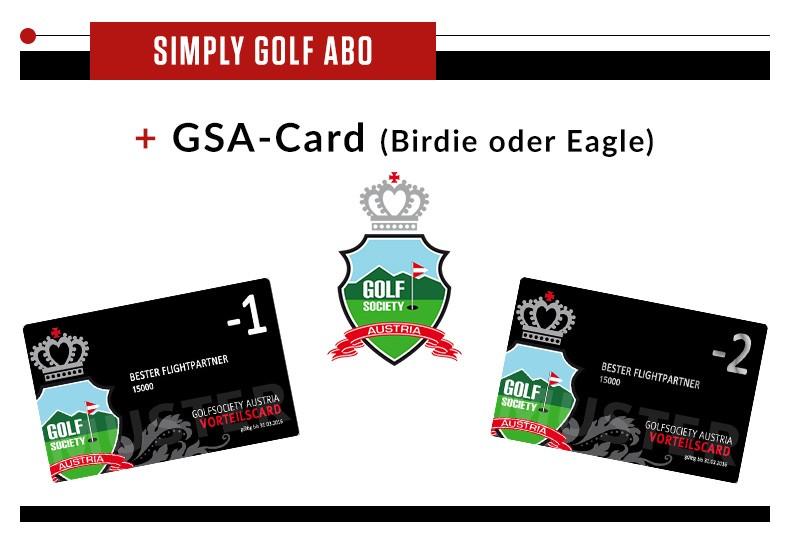 Simply Golf + Golfsociety Austria Vorteilscard - GSA-Card