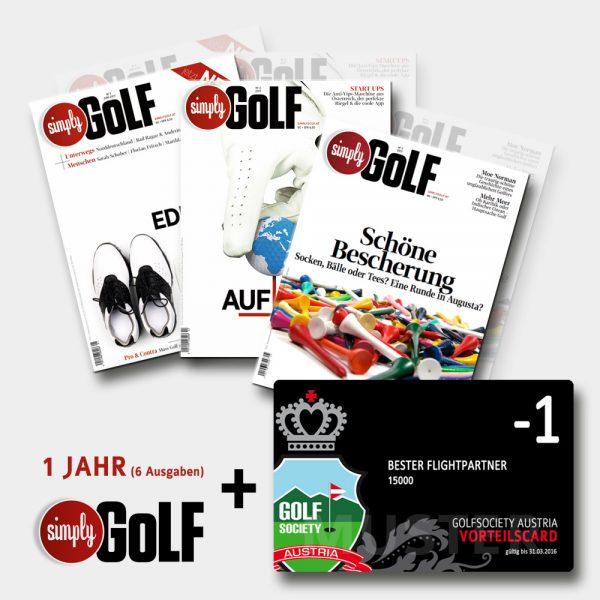 Simply Golf Abo inklusive GSA-Card Birdie