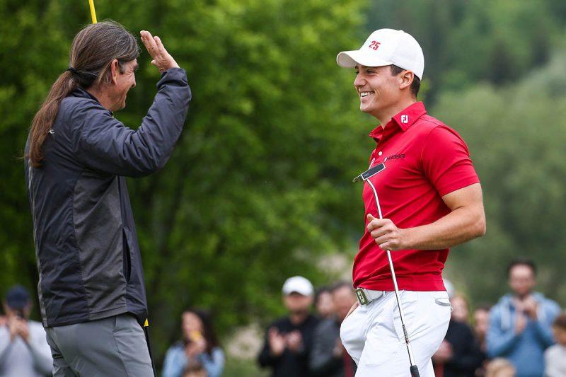 Gösser Open: Timon Baltl triumphert, Matt Wallace gratuliert