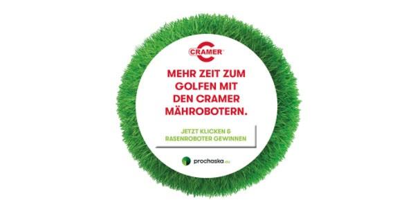 Mehr Zeit zum Golfen: Cramer mäht für Sie! Mit Gewinnspiel!